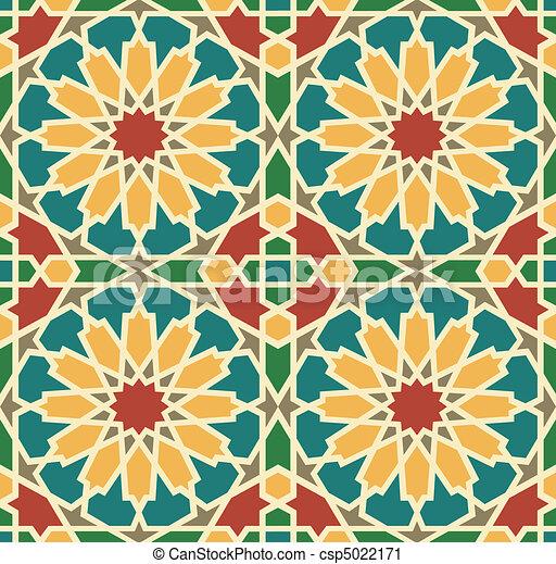 Islamic Star Tile - csp5022171