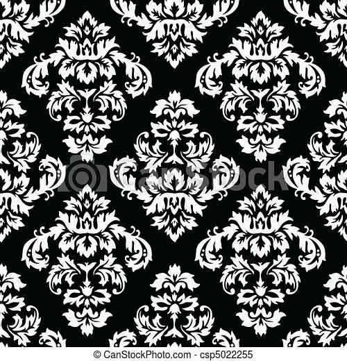 mönster, damast - csp5022255