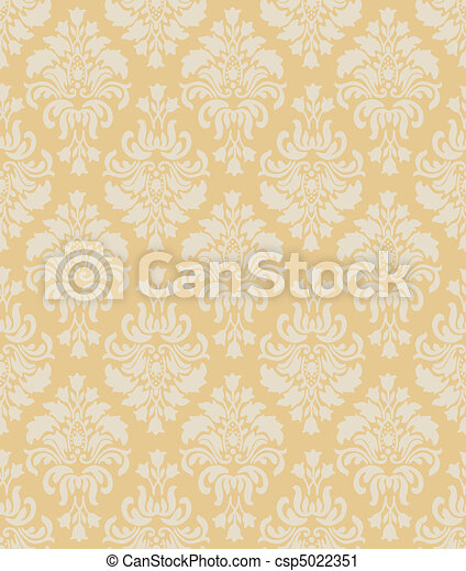 Vintage Wallpaper Pattern - csp5022351