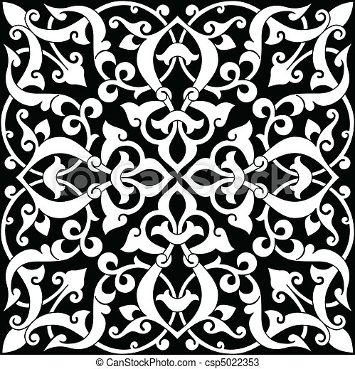 Arabesque Tile - csp5022353