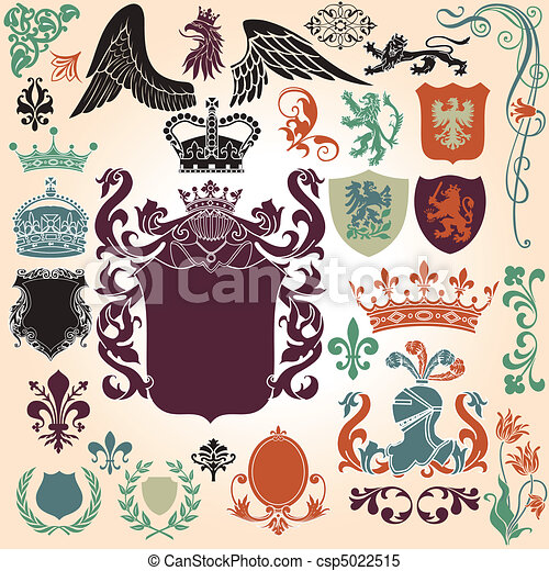 Heraldry Ornament Set - csp5022515