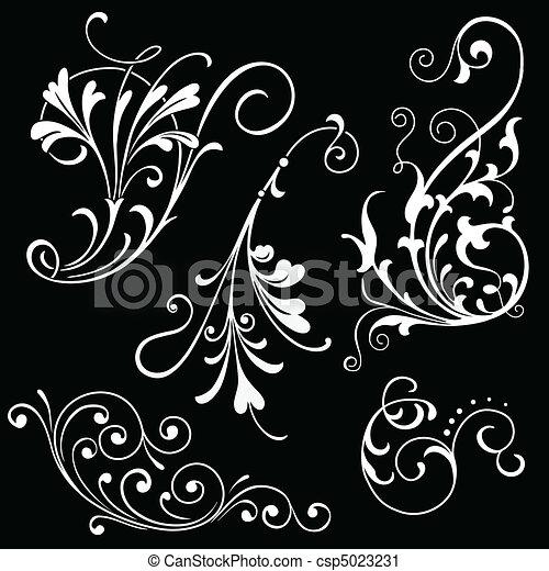 Floral Scrolls - csp5023231