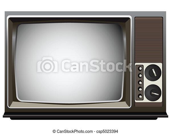 Vintage Television Set - csp5023394
