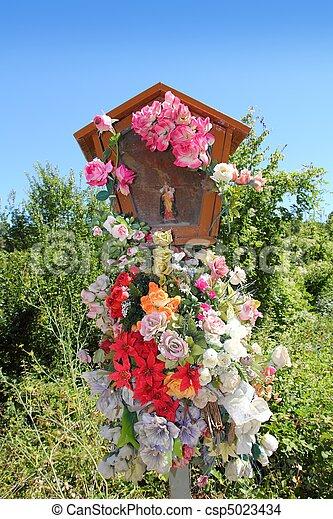 catholique, chrétien,  religion, vierge,  figurine, sacré, icône - csp5023434