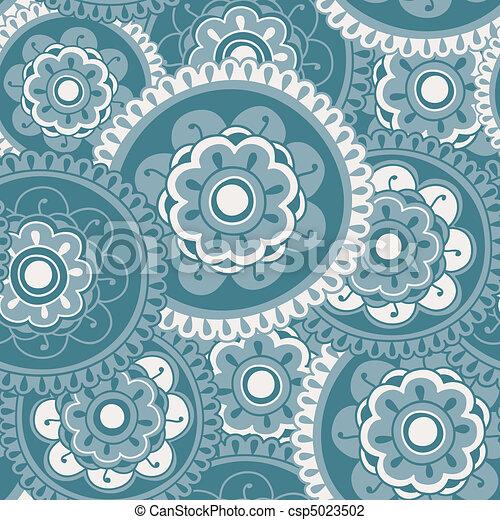 Floral Mandala Seamless - csp5023502