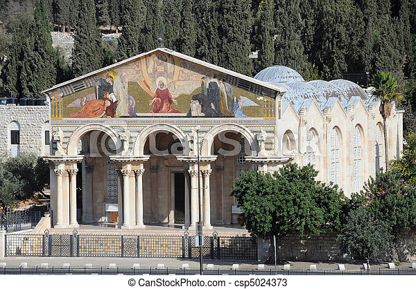Church of All Natioins in Jerusalem - csp5024373