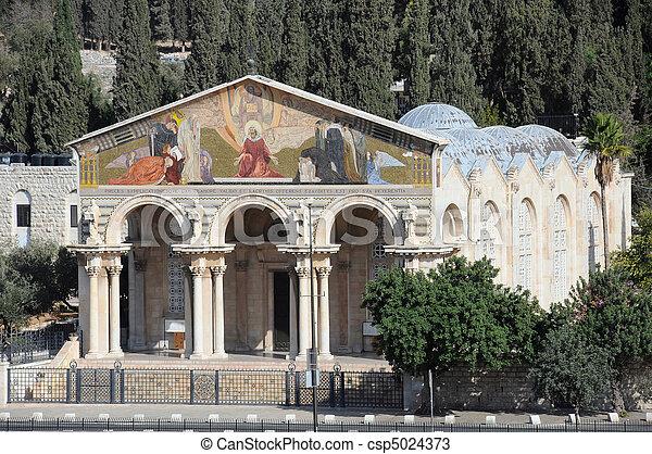 Church of All Natioins in Jerusalem - csp5024373