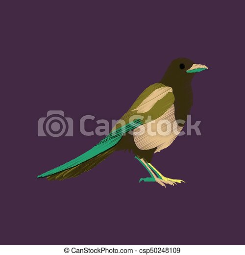 flat shading style icon magpie - csp50248109