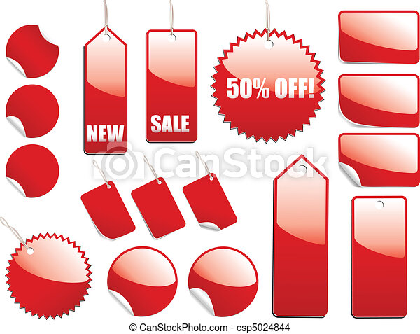Red Sale Tags - csp5024844