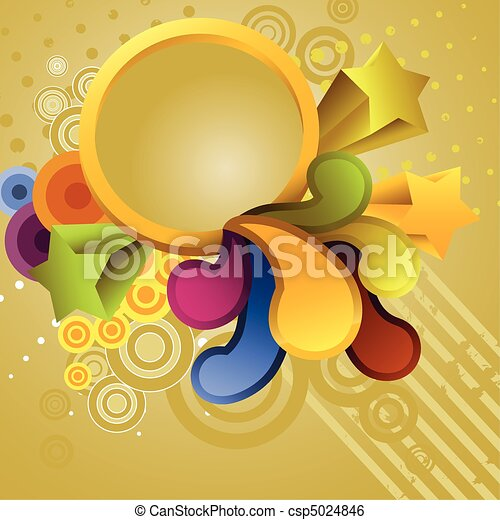 Abstract Circle Background - csp5024846