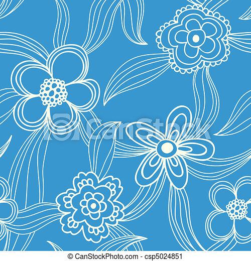 floral seamless pattern - csp5024851