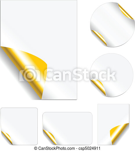 Peeling Metallic Stickers - csp5024911