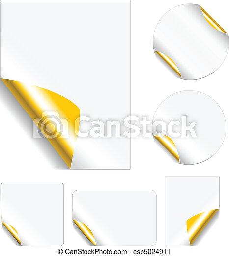 Peeling Metallic Stickers - csp5024911