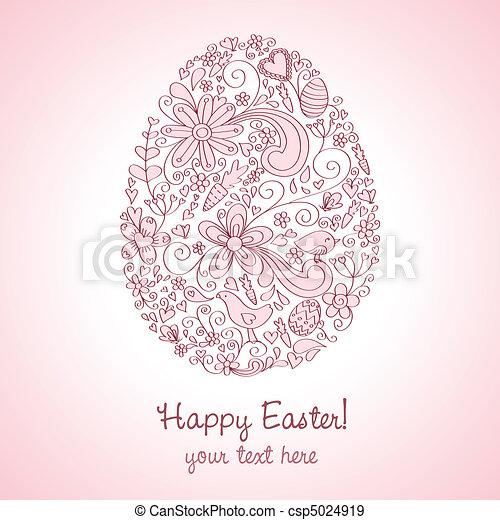 Easter Egg Pink - csp5024919