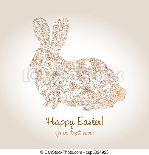 Easter Rabbit Brown - csp5024925