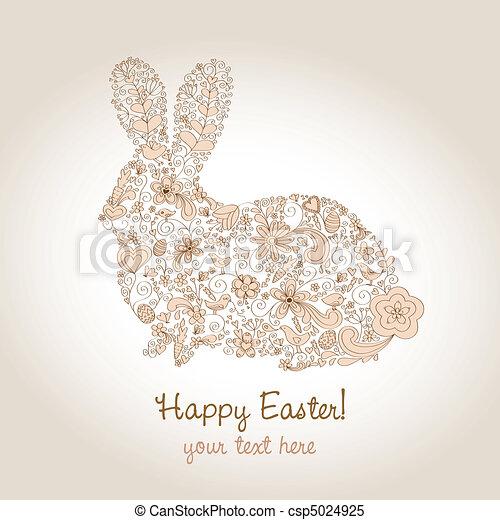 Easter Rabbit Brown - csp5024925