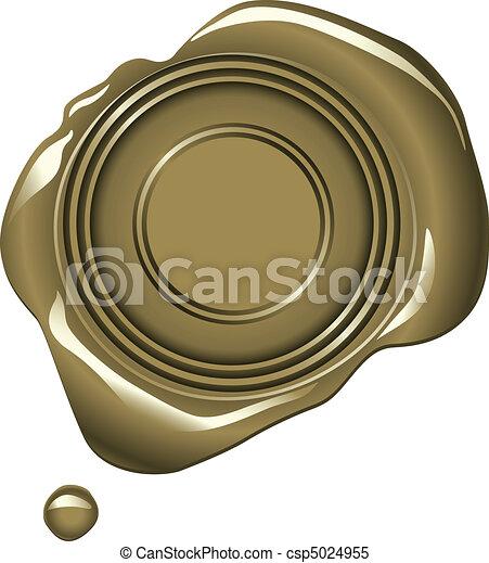 Gold Wax Seal - csp5024955