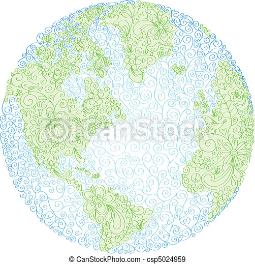 Hand Drawn Doodle Globe - csp5024959