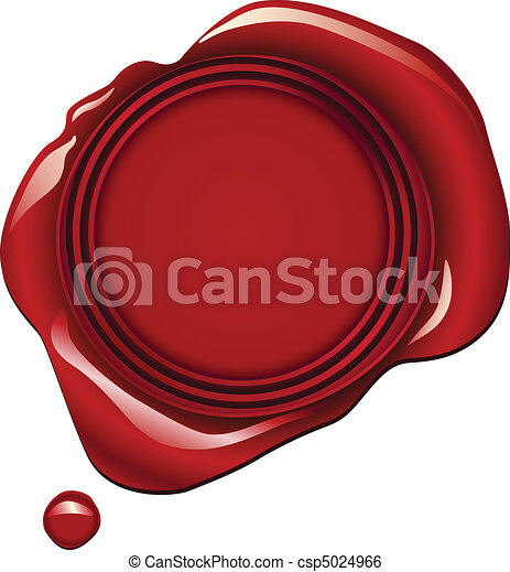 Red Wax Seal - csp5024966