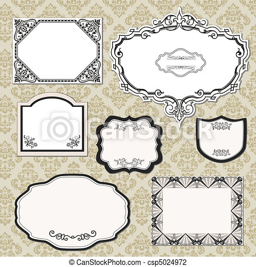 Vintage Label Set - csp5024972
