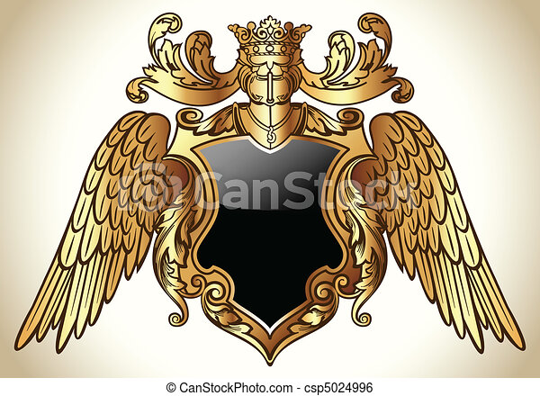 Winged Emblem Gold - csp5024996