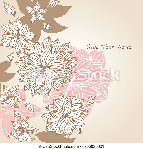 Doodle Floral Background Color - csp5025001