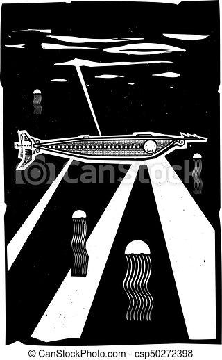 Nautilus Submarine submerged - csp50272398