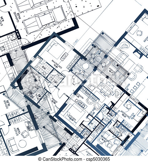 Horizontal Blueprint. Vector illustration - csp5030365