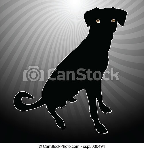 A silhouette of a dog - csp5030494