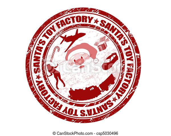 Santa's Toy Factory stamp - csp5030496