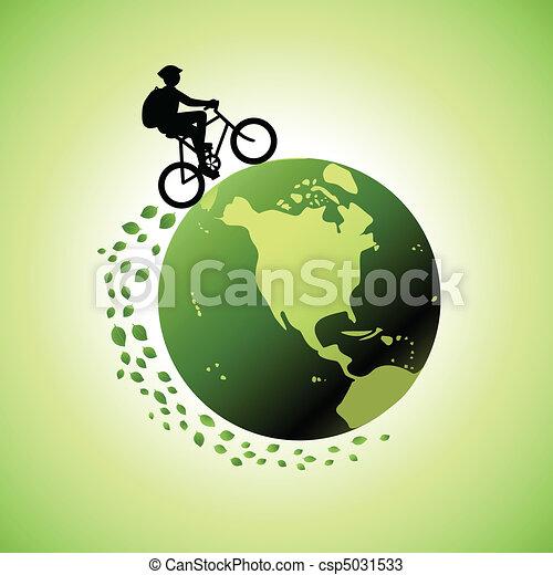 Biking Around The World - csp5031533