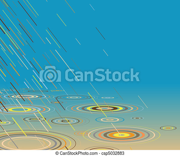 Colored rain - csp5032883