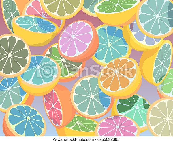 Colorful citrus fruit - csp5032885