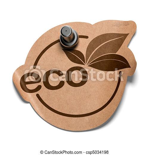 eco sticker - csp5034198