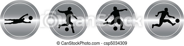 aluminum buttons of soccer - csp5034309