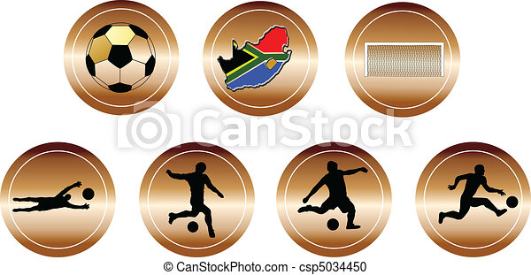 soccer copper buttons - csp5034450