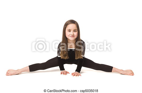 Young girl doing gymnastics - csp5035018