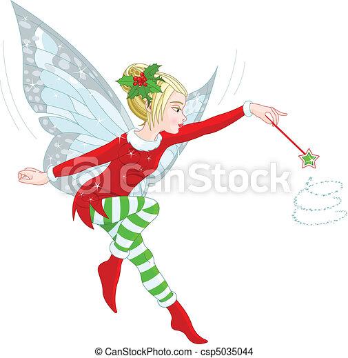 Christmas fairy - csp5035044