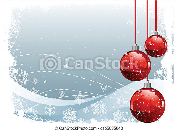 Red Christmas Balls - csp5035048