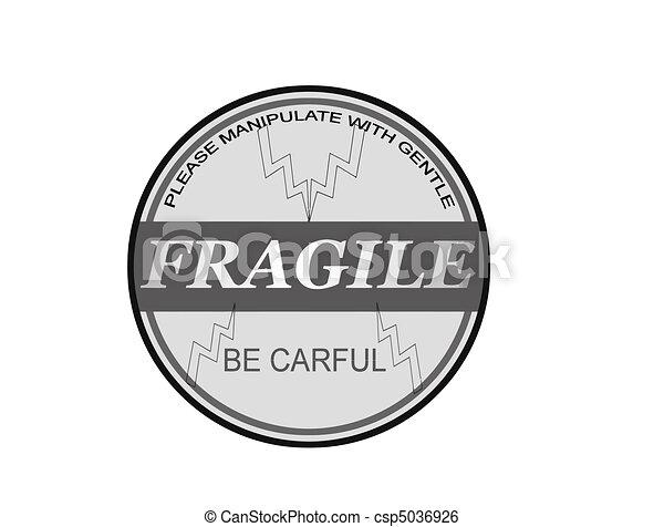 Fragile stamp - csp5036926
