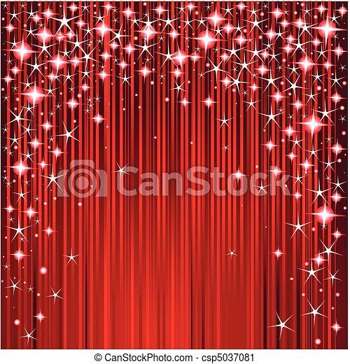 Christmas stars and stripes design - csp5037081