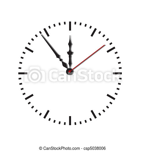 Dial of hours.Vector illustration - csp5038006