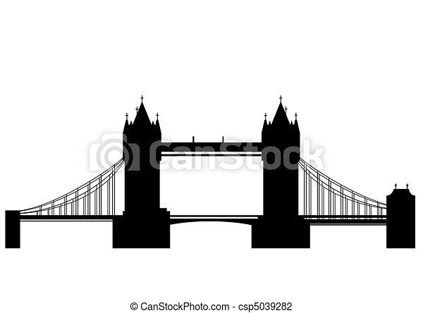 Tower bridge - vector - csp5039282