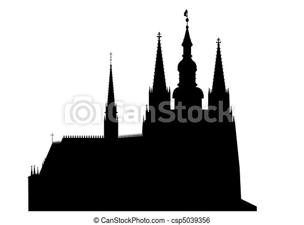 Prague castle - vector - csp5039356