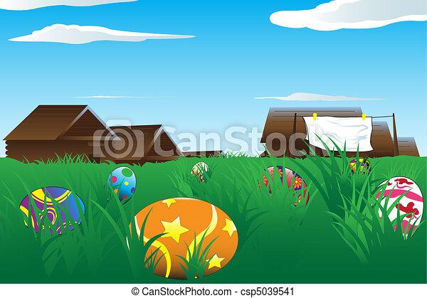 Easter eggs - csp5039541