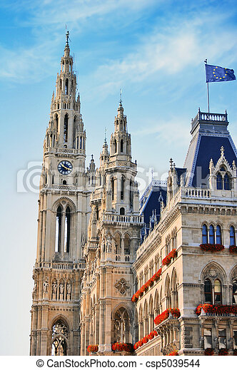 Town hall in Vienna, Austria - csp5039544