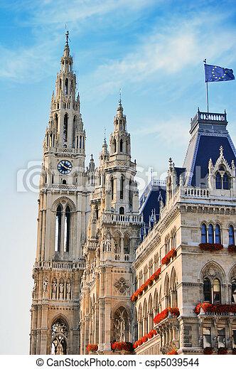 Town hall in Vienna, Austria - csp5039544