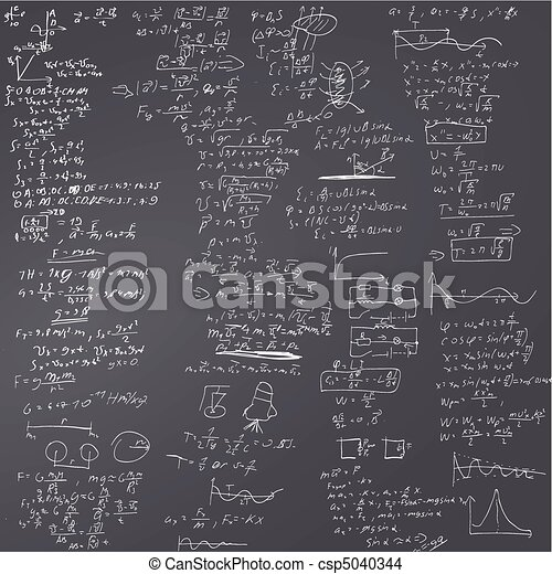 The vector background with physical formulas - csp5040344