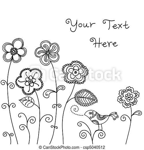 Bird Floral Background - csp5040512
