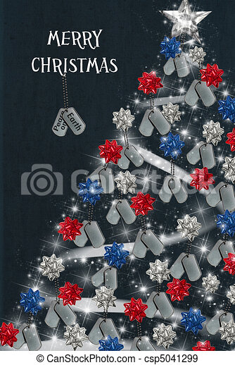 Stock Illustration Of Military Christmas Military Dog